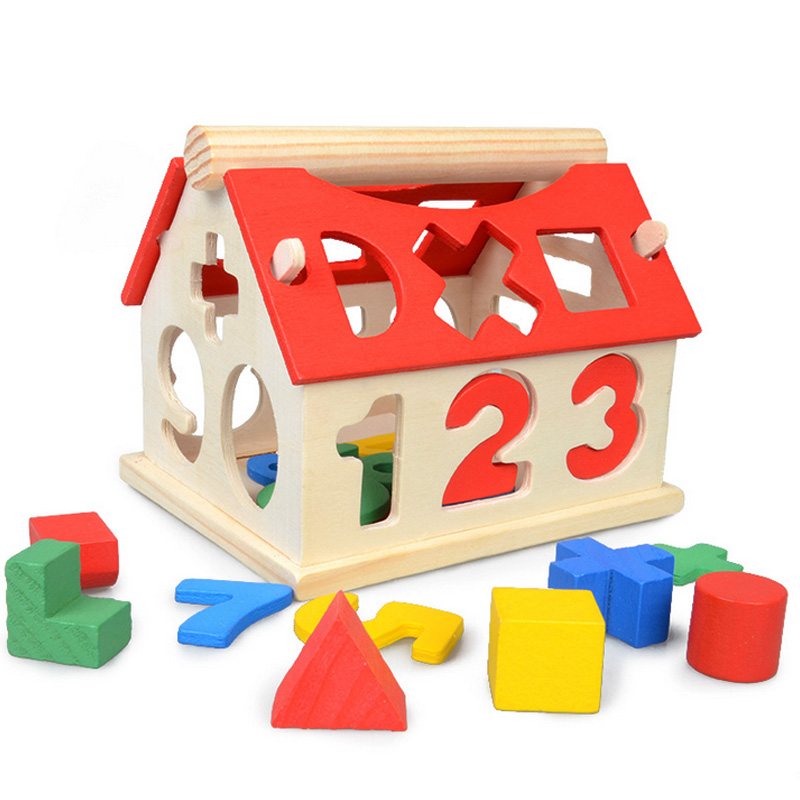 number of children a little digital house childhood educational toys  Building Blocks Toys Kids Montessori Learning Math Toys<br><br>Aliexpress