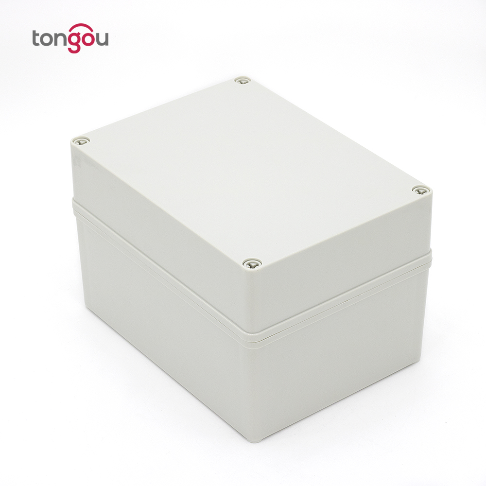 IP67 200*150*130 mm waterproof junction box Free customized trepanning 3 holes plastic control panel box <br>
