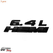 Rhino Tuning 5PC/Lot Black 6.4L HEMI fit SRT CTS SPORT WAGON Car Front Rear Tail Badge Sticker 632bk