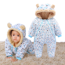 Newborn Jumpsuit Baby Winter Romper Girls Snowsuit Cartoon Boys Ropa Bebe Clothes Winter Cheap Hooded Thick Warm Infant Clothing