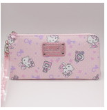 Hello Kitty Lady long Purse The latest style in 2016 PU material wallet women pink  Cartoon pattern Parent child bag<br><br>Aliexpress