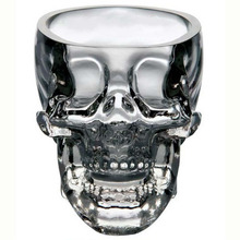 New fashion 73ml Crystal Skull Head Vodka Shot Glass Cup Search Home Bar Glass Cup Mug Beer Wine cristal glass cup (Transparent)