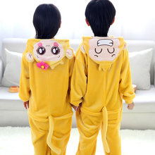 2017 New Monkey Cosplay Costume,Cheap Flannel Cartoon Children Nightgown Winter Pajamas Onesies For Girls Boys Home Clothes Sets(China)