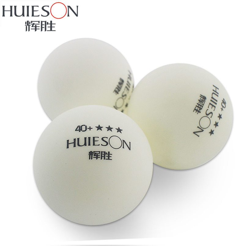HUIESON wholesale 50 pcs Well Packing 3 Star 40+mm New Material Seamless Table Tennis Balls White Ping pong Ball Good Bounce<br><br>Aliexpress
