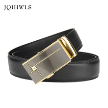 Business Belts For Men Ceinture Luxury Genuine Leather Belt Buckle Wide Belt Fashion Jeans Men Brand Pants Strap Free Shipping(China)
