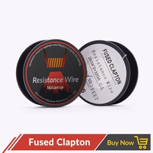 Volcanee 15feet/roll Fused Clapton coil Wire Heating Coil Resistance electronic Cigarette accessories DIY clapton wire RDA RBA(China)