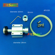 FitSain-Mini table saw for motor shaft 8mm saw blade 16mm/20mm Belt spindle Cutting saws Machine Pulley Bracket bearing chainsaw(China)