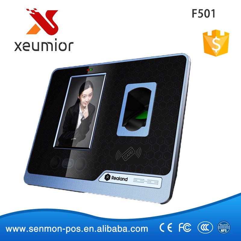 4.3 Inch Touch Screen Biometric Fingerprint Face Recognition Time Attendance with TCP/IP<br><br>Aliexpress