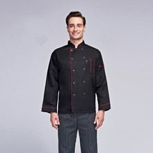 autumn Black Long sleeves chef jacket cooking chef uniform top chef shirts apron men jacket chef kitchen(China)