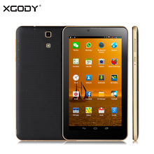 XGODY V701 7 inch 3G Tablet PC Phone Call Android 4.4 MT6572 Dual Core 1.3Ghz 512MB RAM 4GB ROM GPS WCDMA/GSM with Leather Case