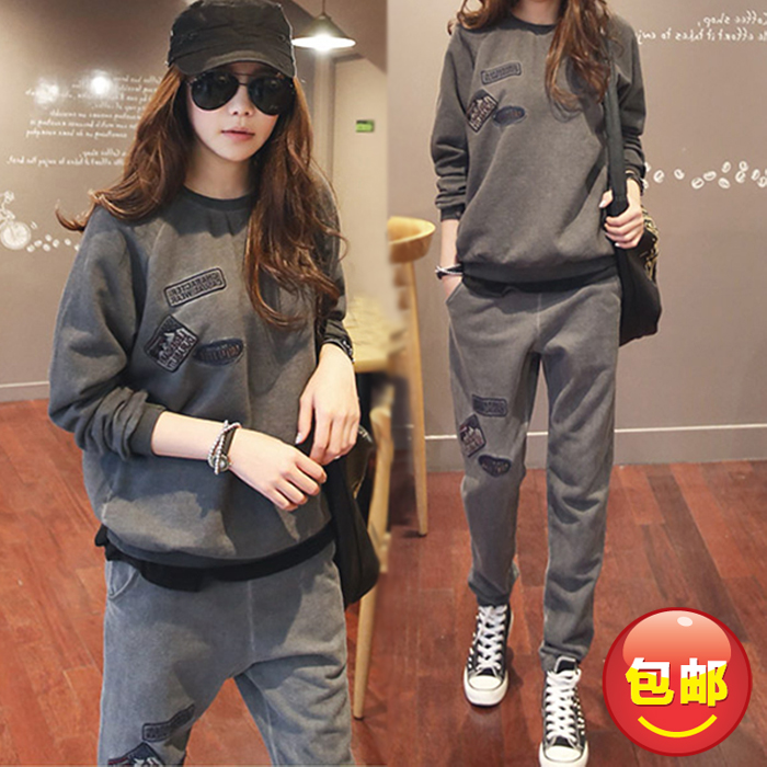 Fashion Maternity set plus warm velvet thickening comfortable clothing autumn winter casual sweatshirt trousers twinset <br><br>Aliexpress