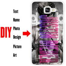 DIY Photo Name Text Customized Hard Cell Phone Case Cover Shell Coque for Samsung Galaxy A3 A5 A7 A8 A9 2015 2016 2017(China)