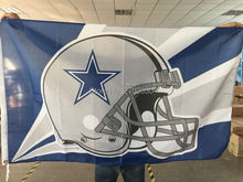 Dallas Cowboys Helmet Flag blue star Helmet Premium Team Polyester 3ft X 5ft Football Banner Jersey Dallas Cowboys Flag(China)