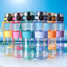 Leak-Proof Seal 350ml/450ml/600ml/1000ml Nozzle Sport Plastic Tritan Water Bottles With Cover Lip Filter BPA  Free
