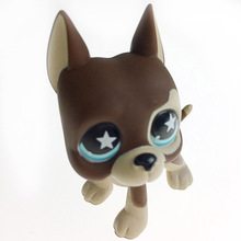5cm Lovely Pet Collection Action Figure LPS Brown Great Dane Dog Puppy Dot Eyes Kids Gifts With Opp Bag