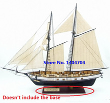 NIDALE Model Free shipping Classics wooden sailboat model HARVEY 1847 wooden Assembly kit