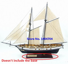 NIDALE Model Free shipping Classics wooden sailboat model HARVEY 1847 wooden Assembly kit(China)