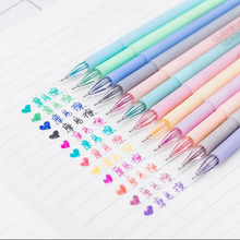 12 Pcs /lot Color Gel Pen Kawaii Stationery Korean Friction May Disappear Pen Escolar Papelaria Gift Office Material School Supp(China)