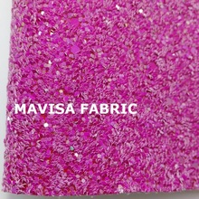 J035- 30X134cm Rose Chunky Glitter Leather, Glitter Fabric for making bows shoes handbags and wallpaper Party Decoration