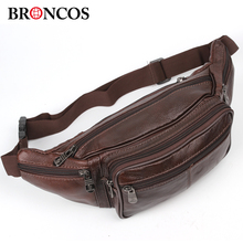 2017 Fashion genuine leather men's multifunction travel bags funny chest pack men waist pack hiqh quality men waist bag