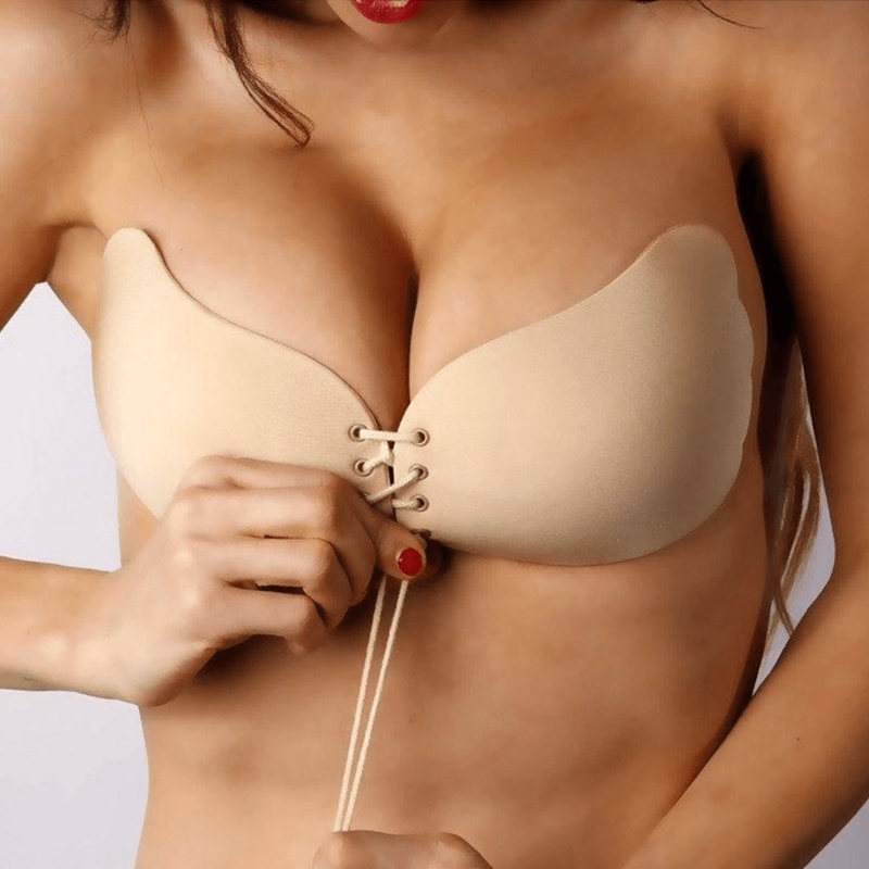 fbbc435b44 Dropshipping 2018 Invisible Push Up Bras For Women Front Closure Self-Adhesive  Silicone Strapless Bra