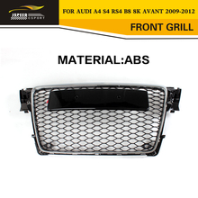 A4 RS4 Car-Styling ABS Chrome Mesh Front Grill grille For Audi A4 S4 RS4 B8 8K Avant 2009-2012