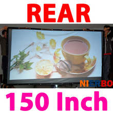 150 Inches16:9 Wall Mounted PVC Material Back Rear Projection Screen Film Curtain for Any 3D LED DLP Smart HD Home Projectors