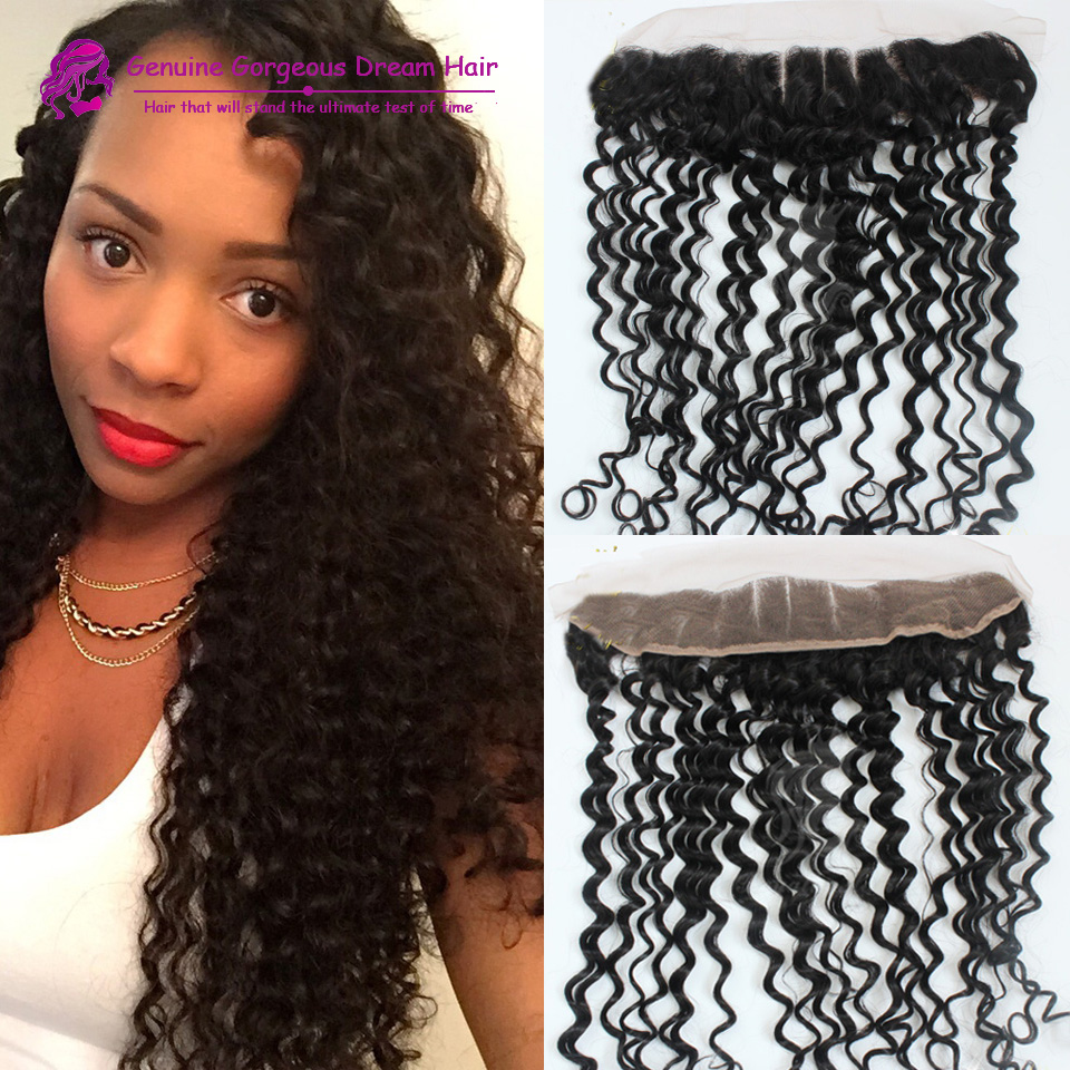 7A Curl lace Frontal Brazilian Hair Full Lace Frontal and Closure With Bleach knots Ear to Ear Lace Frontal With Baby Hair<br><br>Aliexpress