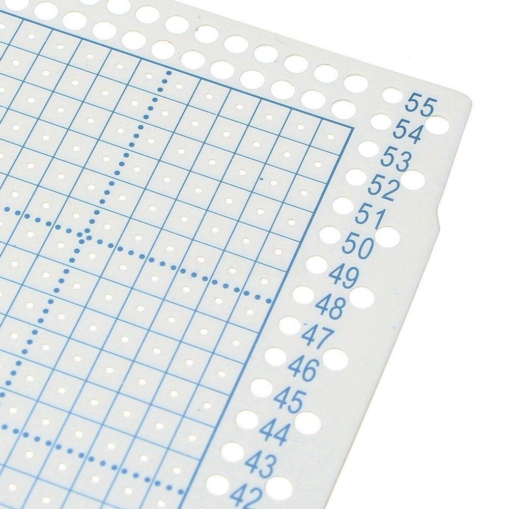 En blanco de tarjetas perforadas de papel para el hermano Empisal tejer máquinas hole punch