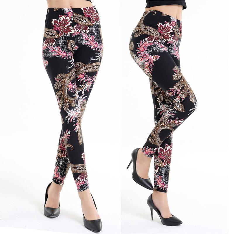 Dasbayla 17 Women Print Fashion Leggings Low Waist Thin stretch Ankle Skinny Pants Sexy Slim Ladies leggings Female 02 41
