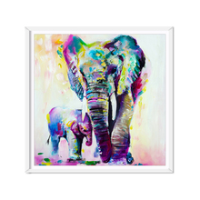 Cute Animals Elephant Oil Painting Colorful Canvas Painting Art Poster Artwork Painting By Numbers Wall Pictures For Living Room