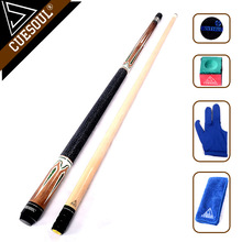 "CUESOUL Billiard Pool Cue Stick With 11.5mm/12.75mm Cue Tip Snooker Cue 58"" 19oz With Free Tool(China)"