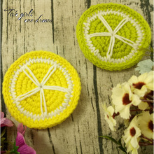 Original DIY 10cm Lemon Coaster Handmade Crochet Doilies Wedding Table Decor Doily Placemat Clothes Accessories  30pcs/lot