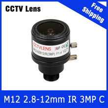 3Megapixel CCTV Camera Varifocal Lens 2.8mm-12mm M12 Mount For 720P/1080P/3MP IP Camera or AHD/CVI/TVI CCTV Camera Free Shipping