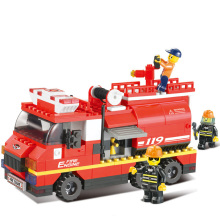 High quality 281pcs Fire water tankers model building kits 3D children early education block toys(China)