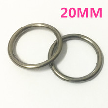 5pcs 20mm Gun Black O Rings of leather Accessory Cast High Quality Carft Strap Round DIY