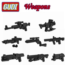 10pcs/lot Science Fiction Movie Weapons Wholesale Guns for Fighters Building Blocks Toys for Children Gifts