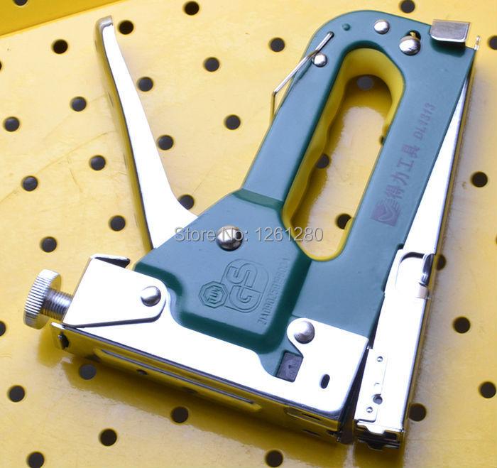 free shipping manual nail gun Power Tools 3in1 staple gun Straight Nail / U type / door type nail gun handl tool hardware<br>