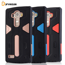 For LG G4 Case NEW Hybrid TPU+PC Hard Plastic Armor Case For LG G4 HOT Slim Dual Color Rubber Dustproof plug Phone Back Covers