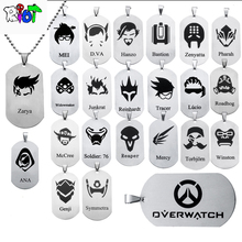 23 types OW Overwatch Pendant Necklace dog tag All heroes logo tracer reaper widowmaker Hanzo bead chain choker Necklace jewelry