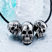Buy Beier new store 316L Stainless Steel pendant necklace new arrival super punk skull biker pendant Fashion Jewelry LLBP8-216R for $2.58 in AliExpress store