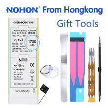 100% Original NOHON High Capacity 1700mAh Battery For iPhone 5S 5C 5GS Cell Phone With Retail Package Repair Tools Gift in stock