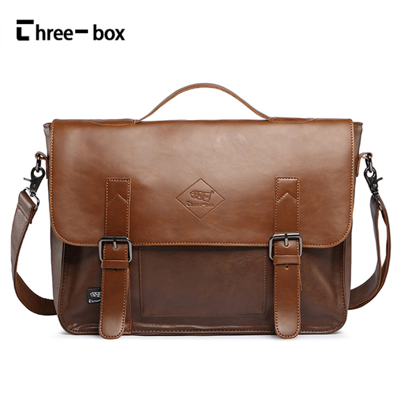 Three-box New Leather Men Fashion Messenger Bags Casual Shoulder Crossbody Bags Large Capacity Mens Brand Handbags Briefcase<br>