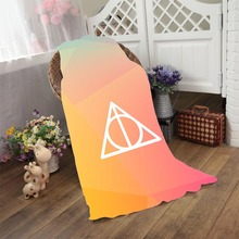 Rainbow Deathly Hallows Harry Potter Wand Beach Towel Sports Towel Home Hotel Bathroom Shower Drying Washclothh
