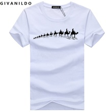 Givanildo Men T-Shirt Plus Size Clothes Camel Brand Printed Short Sleeve Shirts High Quality 5XL T Shirt Casual Cotton BY009(China)