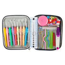 36Pcs/set Multi Colour Crochet Hooks Yarn Knitting Needles Set Kit with Case Tools ,Curve Needle Crochet Latch DIY Crafts Tools