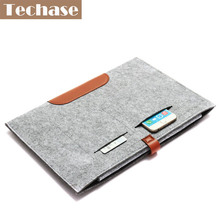 "Laptop Case Bags Wool Felt Hasp Solid Cover Tablet Case Sleeve For Macbook Ipad 11""13""15""Portable Slim Notebook Funda 39.5*27cm"