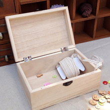 Retro Wooden Ornaments Case Accessory Container Makeup Holder Storage Box with Lock Home Organizer Handmade Craft Jewelry Case