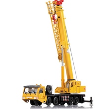 Alloy Engineering Vehicle Material Handling Vehicle Heavy Cranes Manipulator Arm Telescopic Boom Rotation Car Model Toy Gift Box