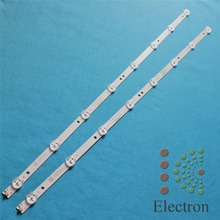 3pcs/set 32'' 620mm*12mm 8leds 2pin TV Panel Backlight Lamps LED Strips w/ Optical Lens Fliter New